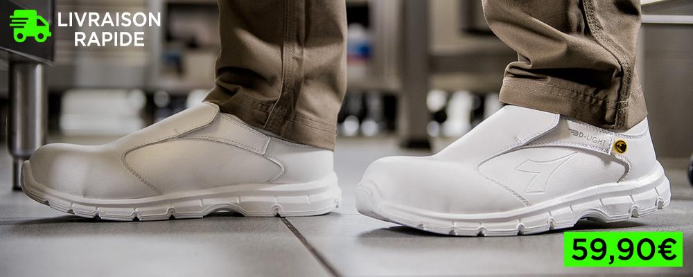 Chaussures de sécurité confortables blanches