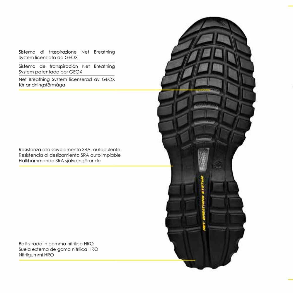 S3 Geox Sécurité Chaussure High De Glove Diadora Tech Haute Esdebay tCshdQr