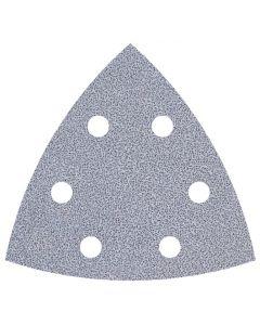 Feuilles abrasives Auto-aggripant Wolfcraft pour ponceuses Delta / Multi-usages, pour peintures d'angle, 95 mm