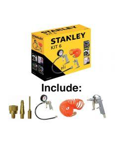 Kt 6 pcs Stanley outils pneumatiques pour compresseur d'air