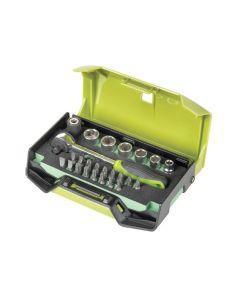 Jeu de 6 clés à douille Fasano FG 624 / S25 avec accessoires